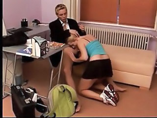 Blowjob Clothed Office Teen