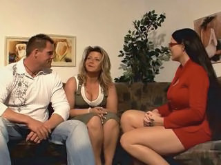 Big Tits European German  Threesome Wife German