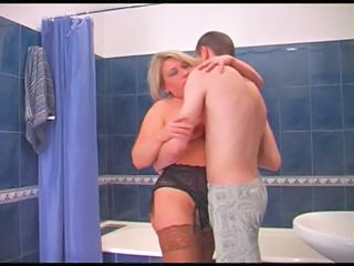 Bathroom Lingerie Mature Mom Old and Young Bathroom