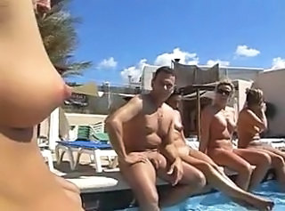Groupsex  Outdoor Pool Swingers Wife Amateur