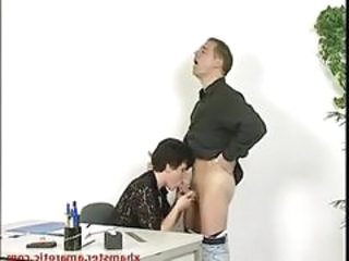 Blowjob Mature Mom Office Old and Young Secretary