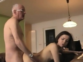 Daddy Daughter Doggystyle Old and Young Teen Grandpa