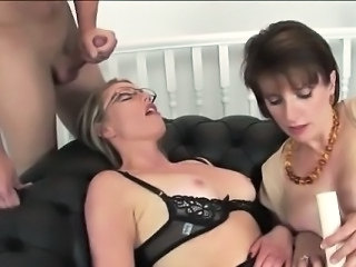 British European Lingerie  Old and Young Pornstar Threesome British