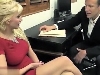 Blonde European Italian  Office Secretary
