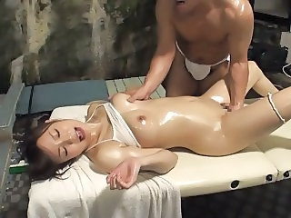 Asian Japanese Massage  Oiled Orgasm Married