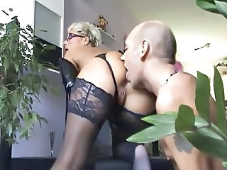 Ass European German Glasses Licking Mature Stockings