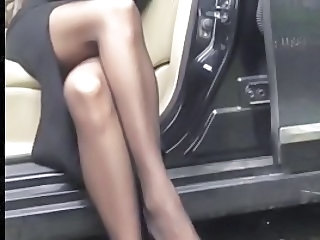 Car Legs Stockings Stewardess