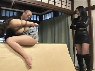 Asian Bondage Slave Tied