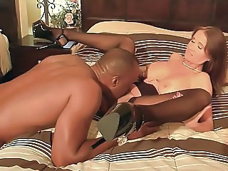 Cuckold Interracial Licking  Stockings Wife