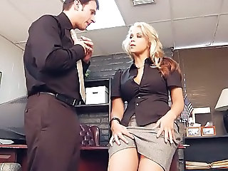 Amazing  Office Pornstar Secretary Skirt Boss