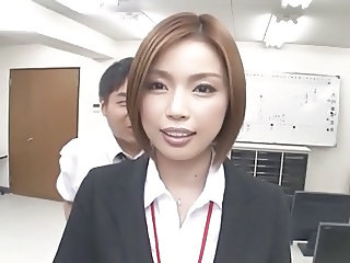 Asian Cute Japanese  Office Secretary
