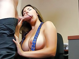 Big Tits Blowjob  Natural Office Secretary