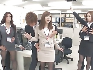 Asian Groupsex Japanese  Office Orgy Secretary Uniform