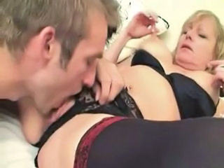 British European Lingerie Licking Mature Mom Old and Young Son British