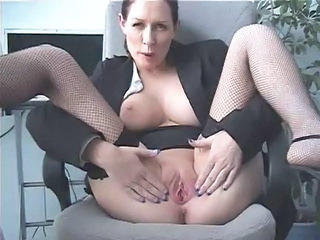 Amateur  Office Pussy Secretary Shaved Stockings Boss