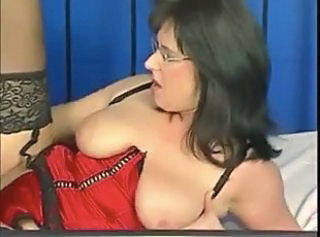 European German Glasses Mature  Boobs Lingerie German