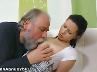 Cute Daddy Daughter Licking Nipples Old and Young Teen
