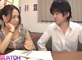 Asian Japanese  Teacher Pantyhose