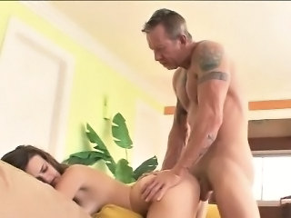Daddy Daughter Doggystyle Old and Young Teen Daddy