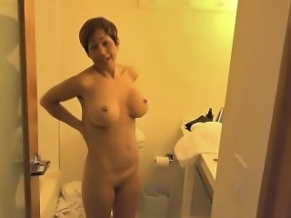 Amateur Bathroom Big Tits  Mom Silicone Tits