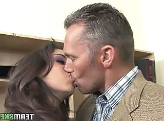 Babe Daddy Kissing Old and Young Student Teacher