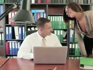 Glasses Office Pornstar Secretary Boss