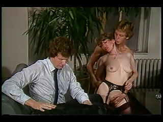 British European  Office Pornstar Stockings Threesome Vintage