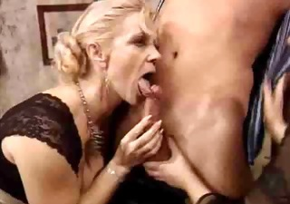 Blowjob European German Mature Old and Young Threesome Vintage German
