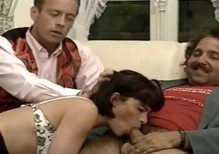 Blowjob Daddy European French  Threesome Vintage French