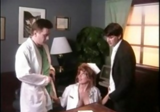 Doctor  Nurse Threesome Uniform Vintage