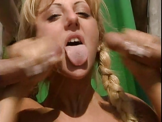 Blonde Cumshot Cute European German Handjob Swallow Teen Threesome Vintage German