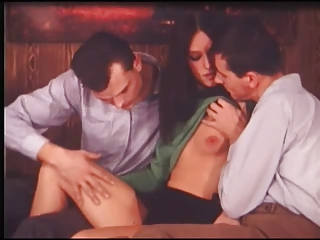 Brunette Cute European Skinny Small Tits Teen Threesome Vintage Danish