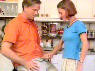 Daddy Daughter Handjob Kitchen Old and Young Teen Vintage