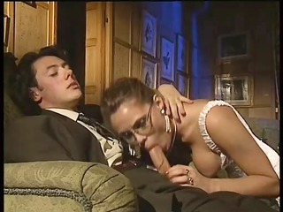 Blowjob European Glasses Italian  Old and Young Pornstar Vintage