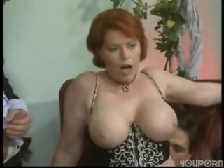 Big Tits European German Mature Natural Pornstar Redhead Riding  Threesome German