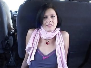 Amateur Brunette Car Mature Skinny Outdoor