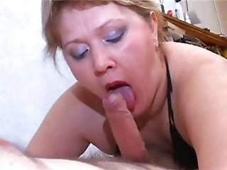 Blowjob Chubby Mature Nylon