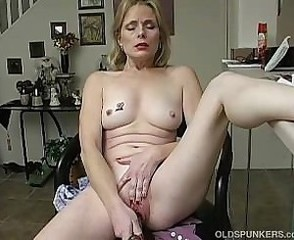 Masturbating Mature Mom Solo Tattoo Toy
