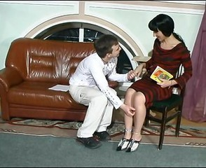 Brunette Mature Mom Old and Young Russian