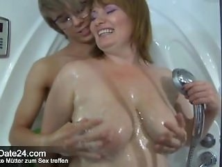 Big Tits Chubby Mature Mom Natural Old and Young Redhead  Showers Mother