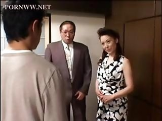 Asian Family Japanese Mature Mom Old and Young Wife