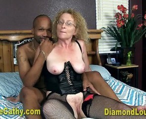 Glasses Interracial Lingerie Mature Old and Young  Stockings