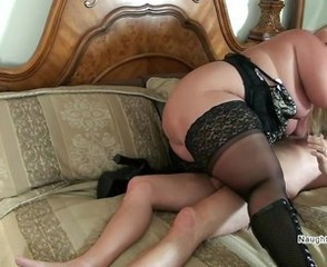 Mature Mom Old and Young Stockings
