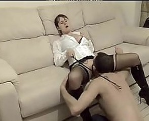 Amateur British European Femdom Licking Mature Slave Stockings European British
