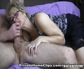 Blowjob Clothed Glasses Mature Teacher