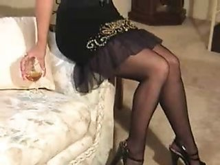 Amateur Drunk Homemade Legs Stockings Wife Boobs