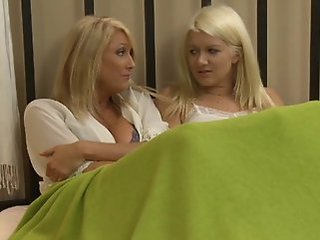 Blonde Daughter Lesbian  Mom Old and Young Teen Boobs