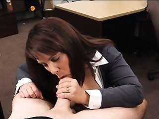 Amateur Blowjob Clothed  Office Secretary Boobs Amateur