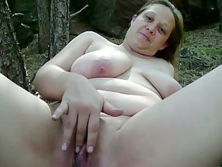 Amateur Chubby Masturbating Mature Outdoor