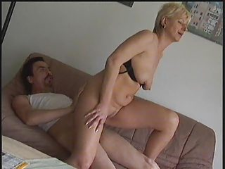 Amateur European German Homemade Mature Older Riding Wife German